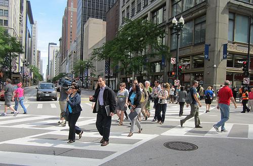 Pedestrians get to