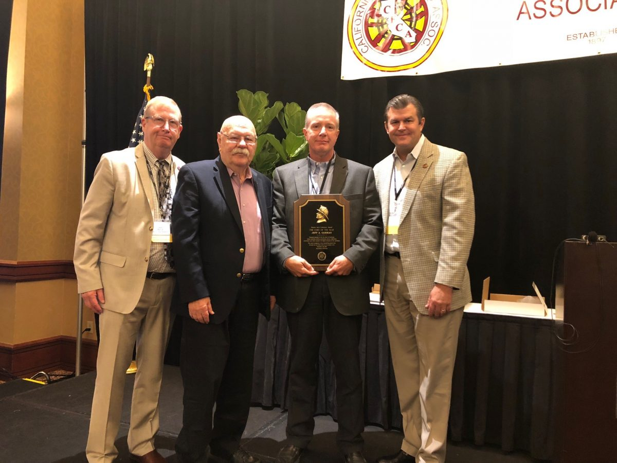 County Fire Protection District Chief Jeff Carman Named