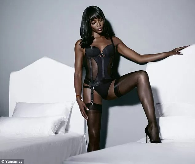 15743410b Naomi Campbell strips down to sexy lingeries to launch her new underwear  range - News360 Info - Breaking News