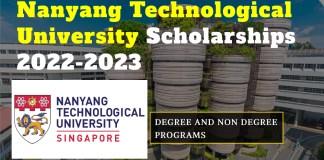 Nanyang Technological University Scholarships