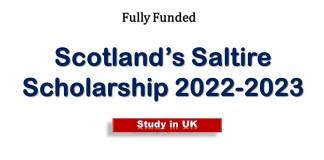 Scotland's Saltire Scholarships 2022-2023