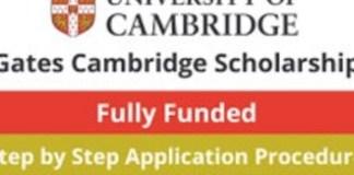 Gates Cambridge Scholarships 2022-2023