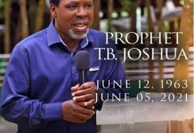 oh T.B Joshua death Nigerian Prophet Temitope Balogun Joshua is dead