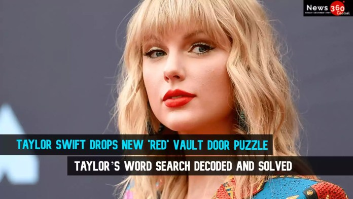 Taylor Swift Drops New 'Red' Vault Door Puzzle - Taylor's Word Search Decoded and Solved