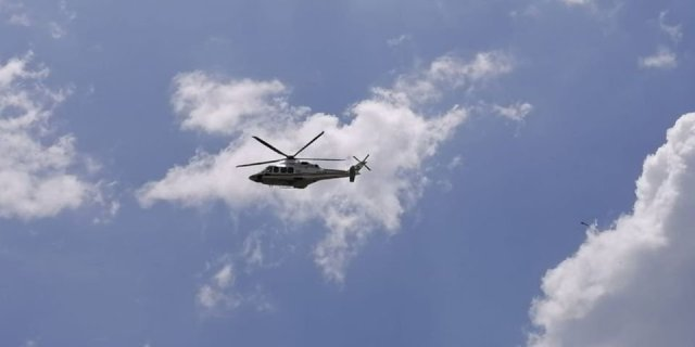 Police doing aerial surveillance