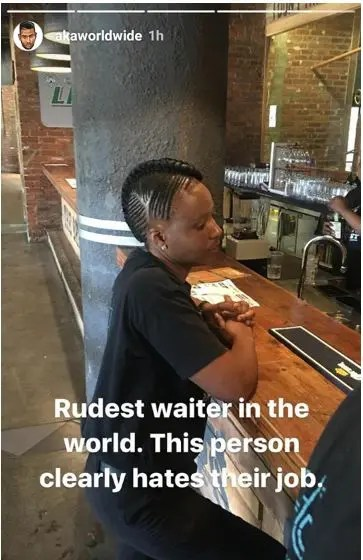 AKA rude waitress