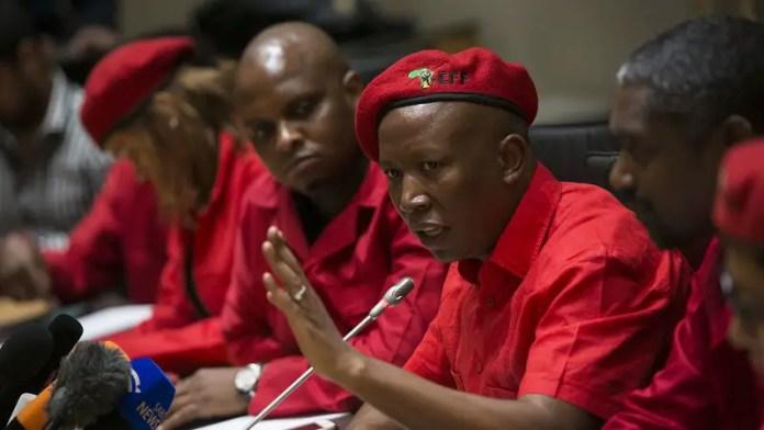 EFF leader Malema