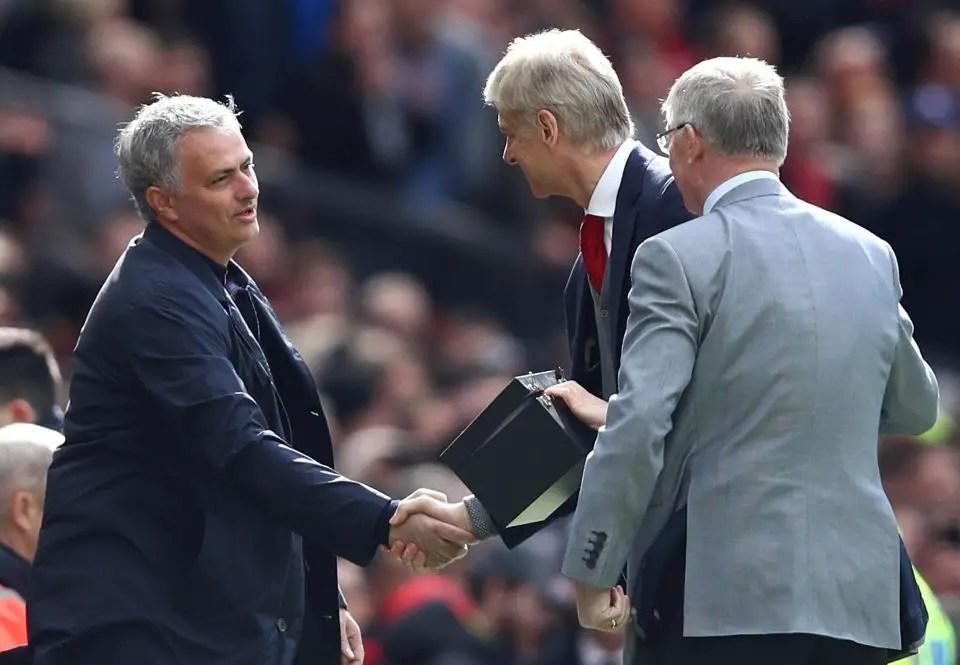Sir Alex Ferguson, Jose Mourinho and Arsene Wenger