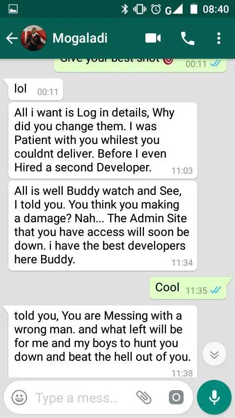 Apostle Abram Tebogo Mogaladi Leaked Chats