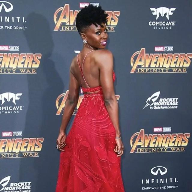 Danai Gurira at The Avengers: Infinity War Premiere