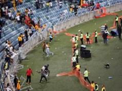 Moses Mbhidha stadium Riot