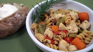 Photo of Roasted Vegetable-Rosemary Chicken Soup: RECIPE