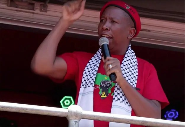 South Africa's Julius Malema has accused some African states of betraying the Palestinian liberation struggle.