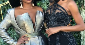 Boity Thulo and Zuri Hall at Vodacom Durban July 2018