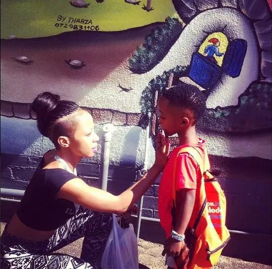 Kelly Khumalo and Christian