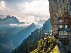 Swiss cliff restaurant