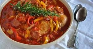 Chicken and pepper stew