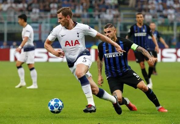 Inter MIlan Tottenham