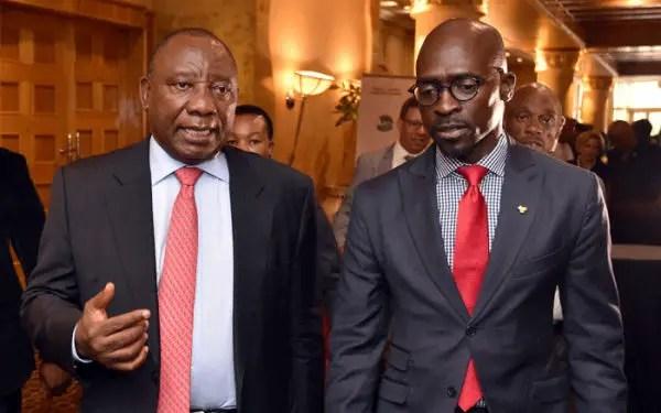 President Ramaphosa and Gigaba