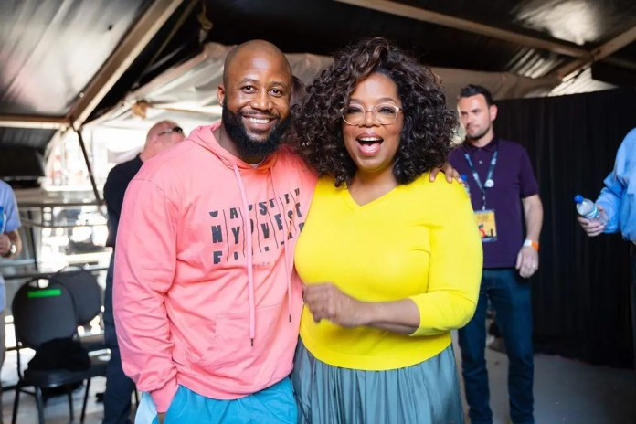 Cassper with Oprah