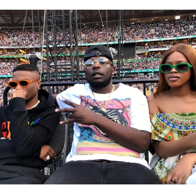 Natasha with DJ Maphorisa and Wizkid
