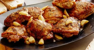 Chicken with roasted garlic
