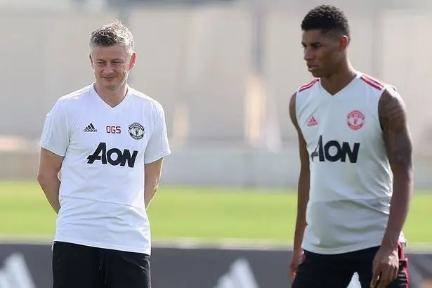 Solskjaer and rashford