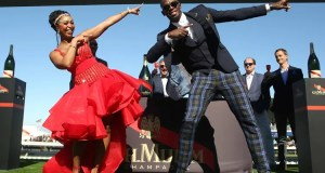 Usain Bolt and Minnie Dlamini
