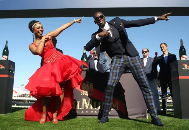 Usain Bolt and Minnie Dlamini