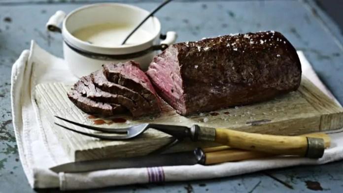 Roast fillet of beef