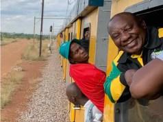Cyril Ramaphosa rides Train from Soshanguve