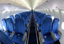 airoplane interior