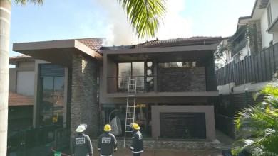 Devestating fire destroys house