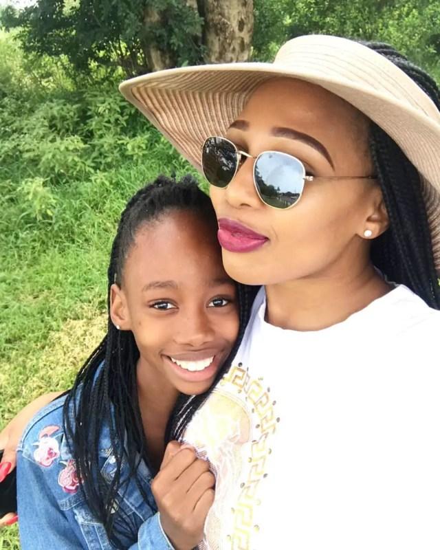 Phindile Gwalaand her Daughter