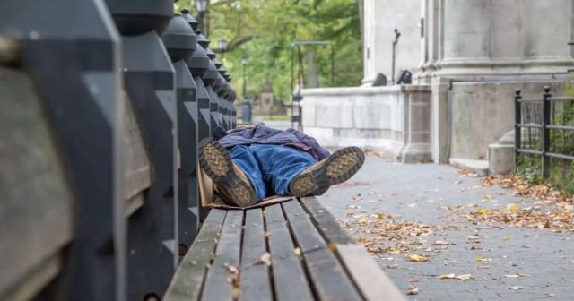 three homeless men in Pretoria