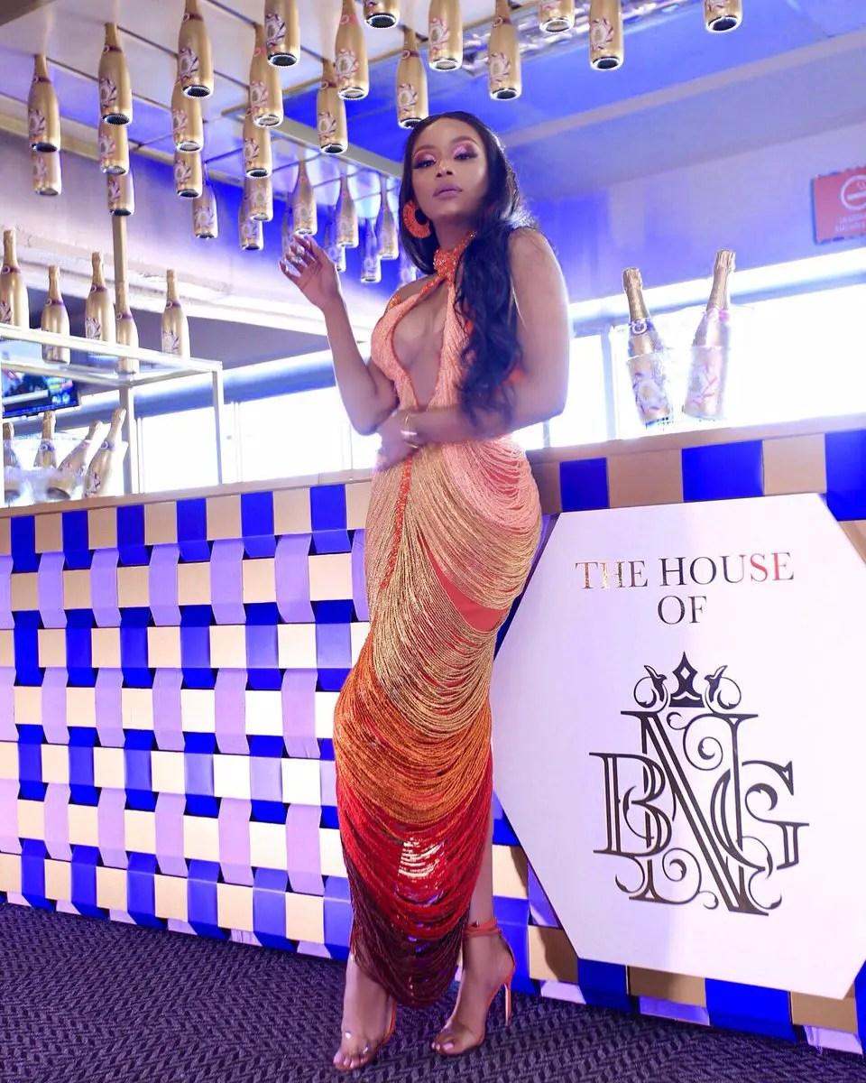 Bonang Matheba at Vodacom Durban July 2019
