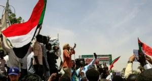 Five Sudanese protesters