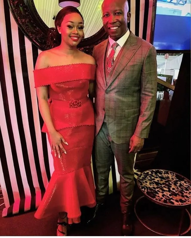 Julius Malema & his beautiful Wife at 2019 Durban July