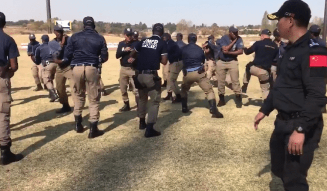 Chinese police chop JMPD into shape