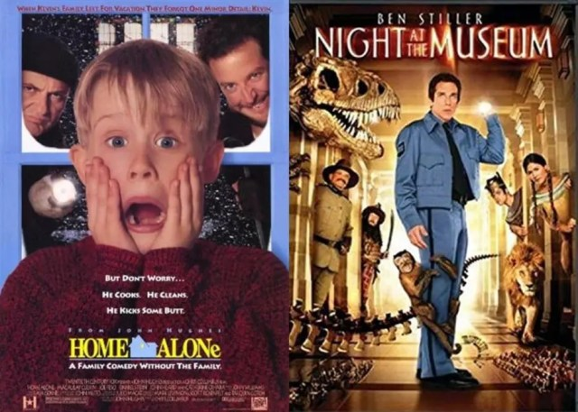 Home Alone and Night at the Museum