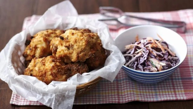 chicken and coleslaw
