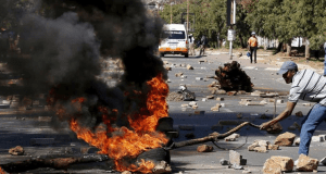 violent protests in North West