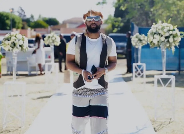 Cassper Nyovest looks so Fly at #Somhaletradionalwedding