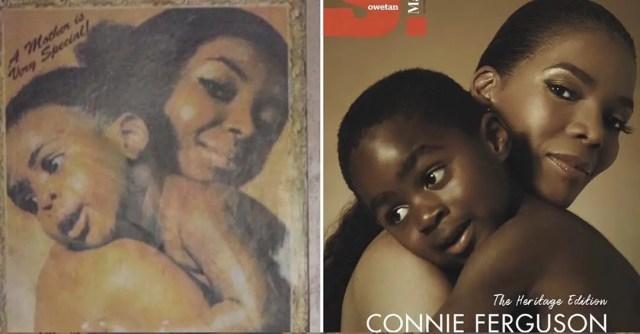 Connie Ferguson and her grandson