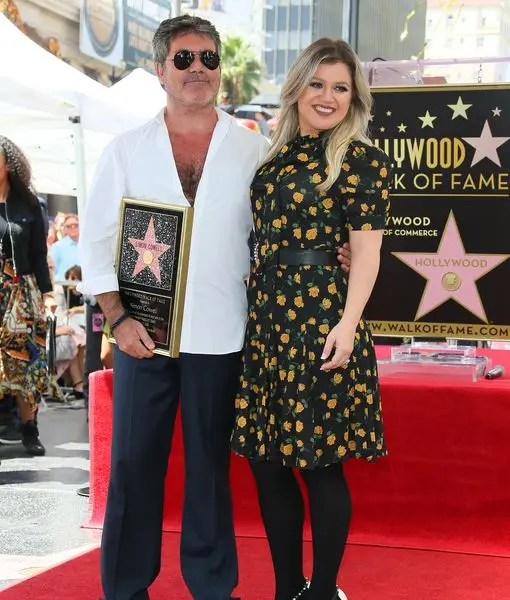 Simon Cowell and Kelly Clarkson