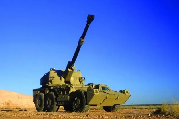 A G6 155mm self-propelled artillery gun, one of Denel's products