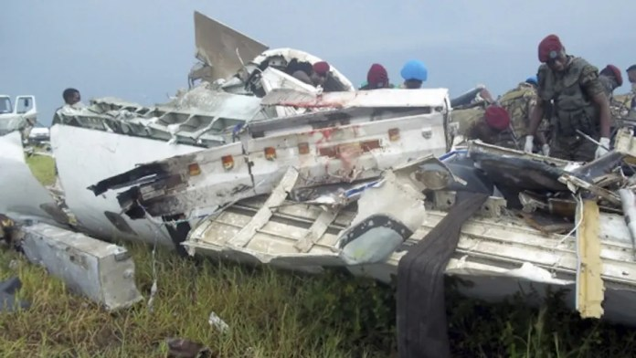Congo plane crash wreckage