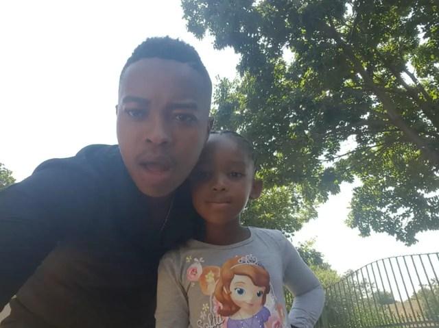 Junior Singo shows off his daughter