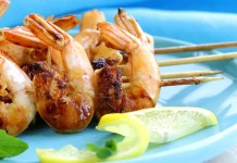 Lemon and ginger prawns