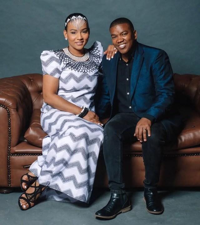 Loyiso Bala and wife